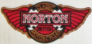 Norton Classic red wings sew-on embroidered patch (yy)